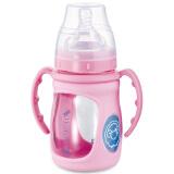 BABISIL 贝儿欣 宽口径感温玻璃奶瓶 180ml 粉色 *3件 198元(合66元/件)