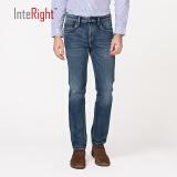 INTERIGHT牛仔裤男 经典欧式五袋款 合体修身牛仔裤中蓝色 30 170/76A *2件 187.9元(合93.95元/件)
