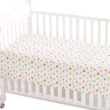 象宝宝(elepbaby)婴儿床单 棉针织新生宝宝幼儿园儿童床婴儿床床单140x90cm奇趣脚丫 66元