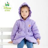 迪士尼(Disney) 154S736 女童中长款保暖连帽棉服 58.23