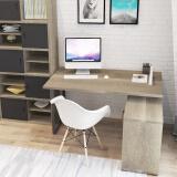 好事达 转角书桌 带门柜电脑桌 办公桌(胡桃木色)莱恩2330 489元